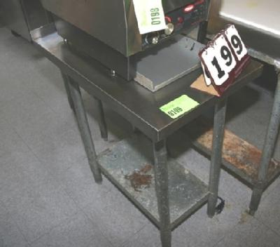 Collar City Auctions - 18 wide stainless steel work table